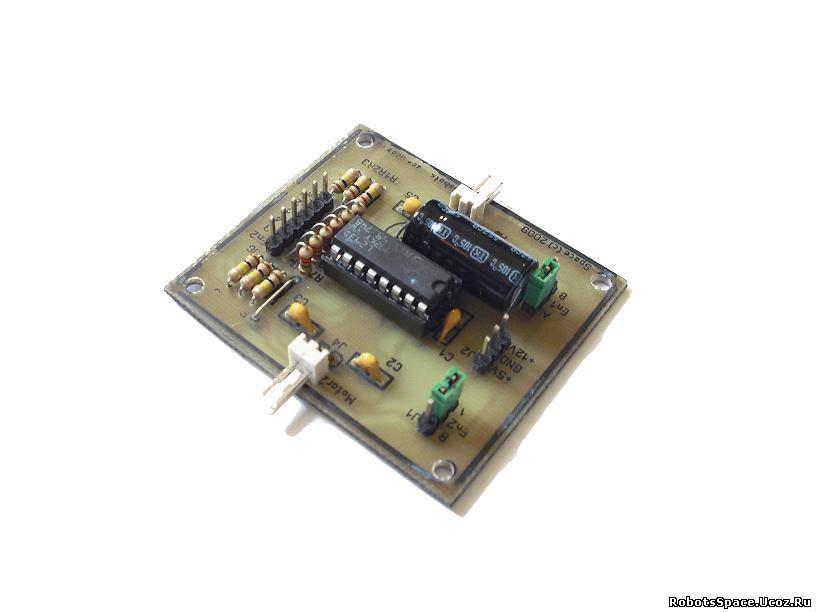 на микросхеме L293D